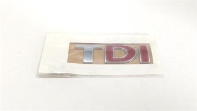 Evolution Import Red (DI) TDI Badge Rear